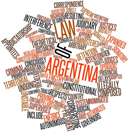 justices: Abstract word cloud for Law of Argentina with related tags and terms