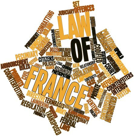 addressed: Abstract word cloud for Law of France with related tags and terms