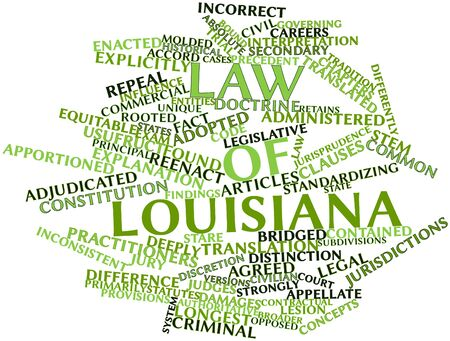 discretion: Abstract word cloud for Law of Louisiana with related tags and terms