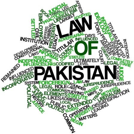 sculpted: Abstract word cloud for Law of Pakistan with related tags and terms