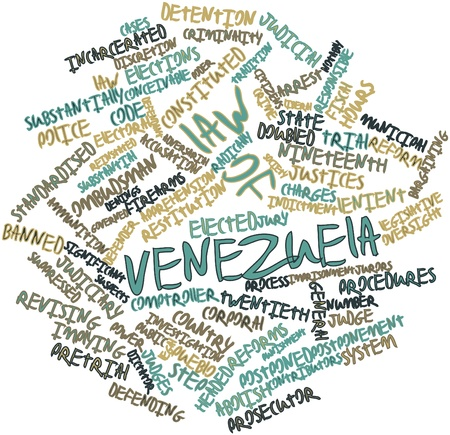justices: Abstract word cloud for Law of Venezuela with related tags and terms