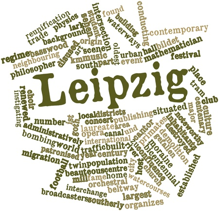 mayor: Abstract word cloud for Leipzig with related tags and terms