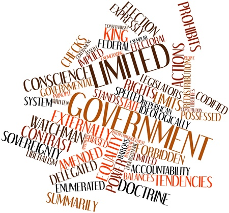 legislators: Abstract word cloud for Limited government with related tags and terms