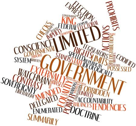 retained: Nube palabra abstracta para el gobierno limitado con etiquetas y t�rminos relacionados