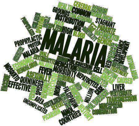 infective: Nube palabra abstracta para la Malaria con etiquetas y t�rminos relacionados