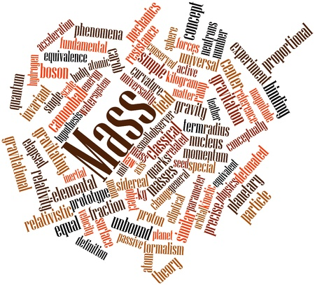 inertial: Abstract word cloud for Mass with related tags and terms Stock Photo