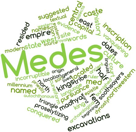 dialects: Abstract word cloud for Medes with related tags and terms
