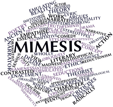 orators: Abstract word cloud for Mimesis with related tags and terms