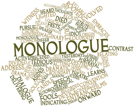 preceded: Abstract word cloud for Monologue with related tags and terms