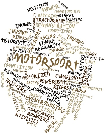 regularity: Abstract word cloud for Motorsport with related tags and terms Stock Photo