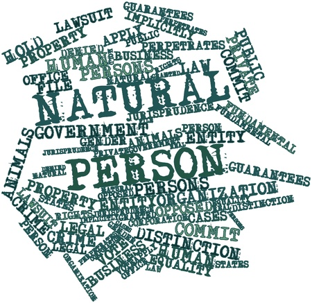 voting rights: Abstract word cloud for Natural person with related tags and terms Stock Photo