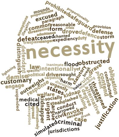 kidnap: Abstract word cloud for Necessity with related tags and terms