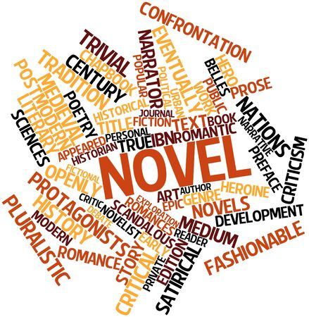 novel: Abstract word cloud for Novel with related tags and terms