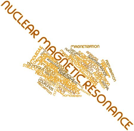 resonancia magnetica: Nube palabra abstracta por resonancia magnética nuclear con etiquetas y términos relacionados