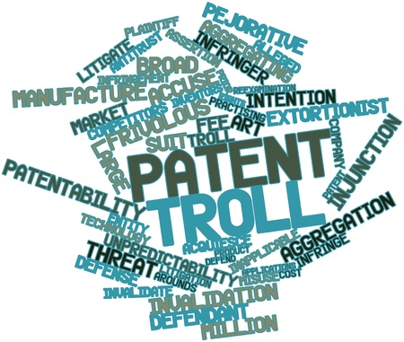 Abstract word cloud for Patent troll with related tags and terms