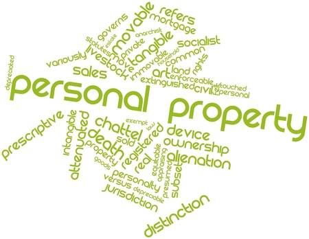 Abstract word cloud for Personal property with related tags and terms Stock Photo - 16982668
