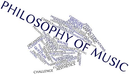 Abstract word cloud for Philosophy of music with related tags and terms Stock Photo - 16982675