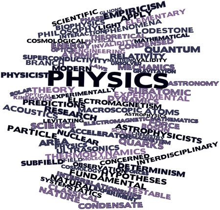 Abstract word cloud for Physics with related tags and terms photo
