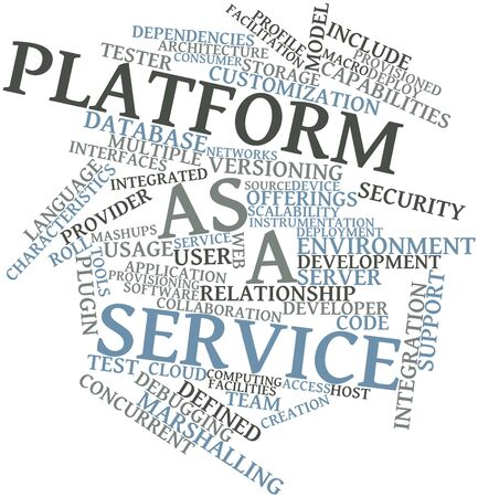 Abstract word cloud for Platform as a service with related tags and terms Stock Photo - 16983056