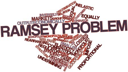 arises: Abstract word cloud for Ramsey problem with related tags and terms Stock Photo
