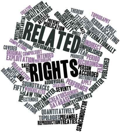 compilations: Abstract word cloud for Related rights with related tags and terms