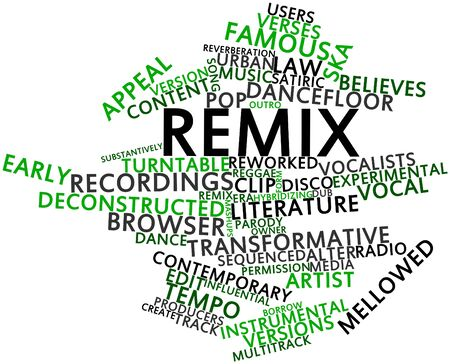 equalization: Abstract word cloud for Remix with related tags and terms
