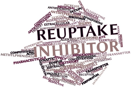 norepinephrine: Abstract word cloud for Reuptake inhibitor with related tags and terms
