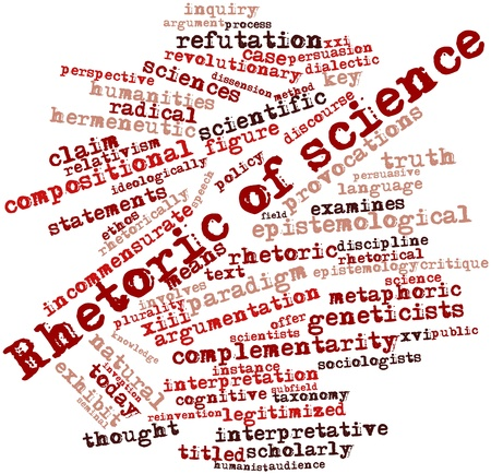 critique: Abstract word cloud for Rhetoric of science with related tags and terms