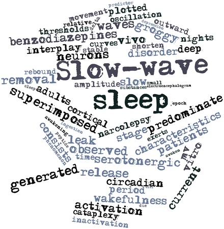 predictor: Abstract word cloud for Slow-wave sleep with related tags and terms