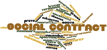 brutish: Abstract word cloud for Social contract with related tags and terms