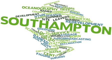 the major tide: Abstract word cloud for Southampton with related tags and terms