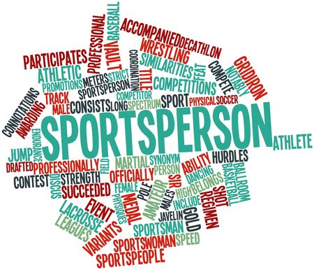 synonym: Abstract word cloud for Sportsperson with related tags and terms