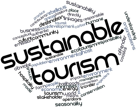 seasonality: Abstract word cloud for Sustainable tourism with related tags and terms