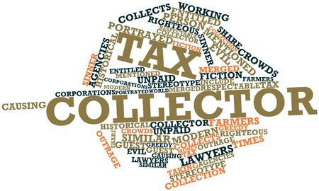 righteous: Abstract word cloud for Tax collector with related tags and terms