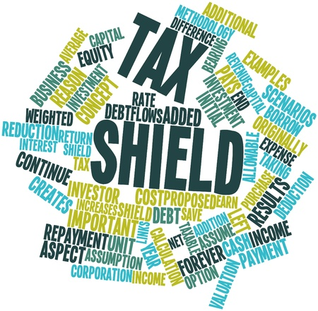 unit: Abstract word cloud for Tax shield with related tags and terms