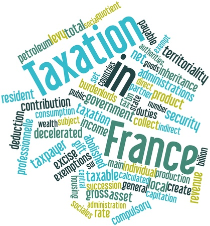 Abstract word cloud for Taxation in France with related tags and terms Stock Photo - 16983165