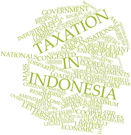 Abstract word cloud for Taxation in Indonesia with related tags and terms