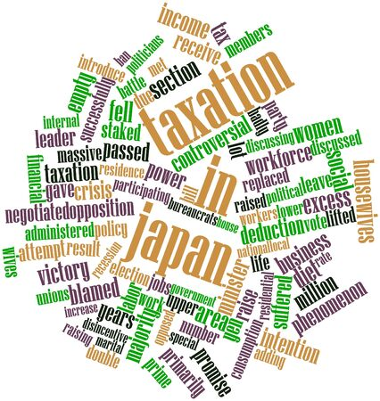suffered: Abstract word cloud for Taxation in Japan with related tags and terms