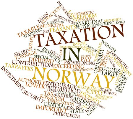 Abstract word cloud for Taxation in Norway with related tags and terms Stock Photo - 16983490