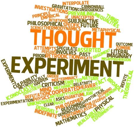 hipotesis: Nube palabra abstracta para experimento mental con las etiquetas y términos relacionados Foto de archivo