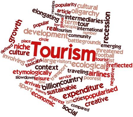 increasingly: Word cloud astratto per il Turismo con tag correlati e termini