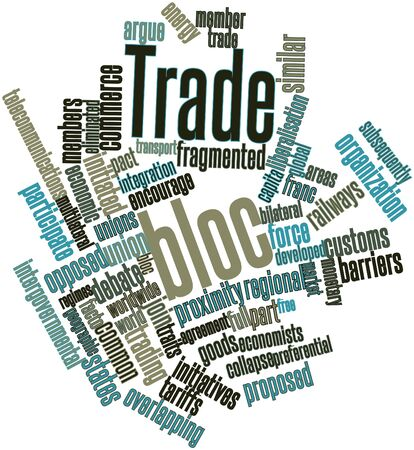 eliminated: Abstract word cloud for Trade bloc with related tags and terms