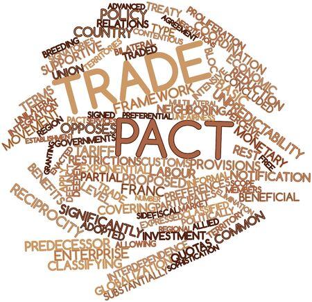 relaciones laborales: Nube palabra abstracta por pacto comercial con marcas y términos relacionados