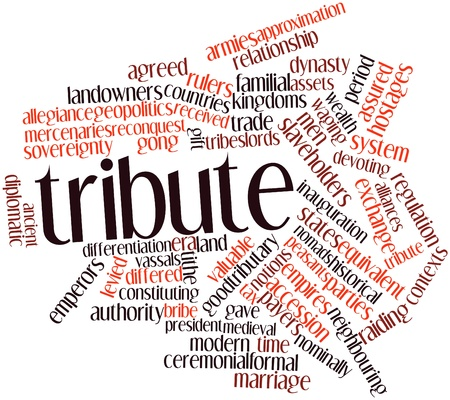 contexts: Abstract word cloud for Tribute with related tags and terms