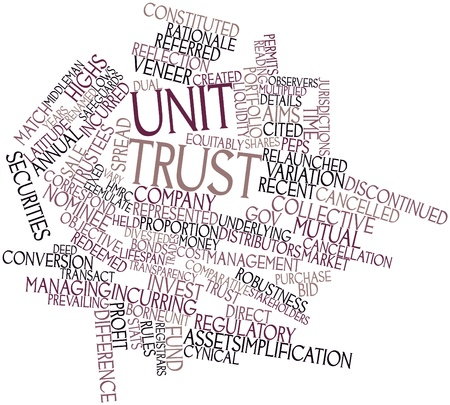 incurred: Abstract word cloud for Unit trust with related tags and terms