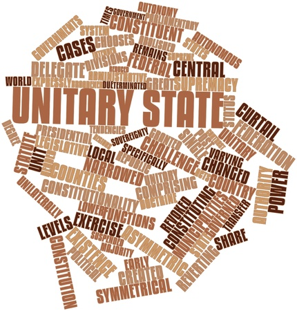 Abstract word cloud for Unitary state with related tags and terms Stock Photo - 16983700