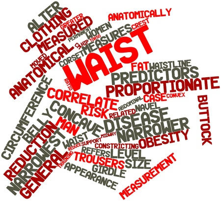 correlate: Abstract word cloud for Waist with related tags and terms Stock Photo