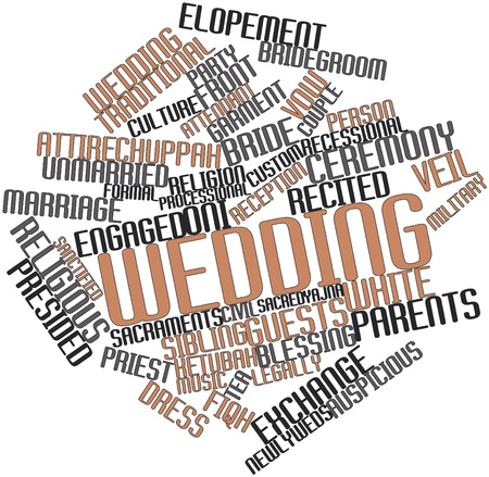 egalitarian: Abstract word cloud for Wedding with related tags and terms