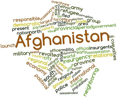 neighboring: Abstract word cloud for Afghanistan with related tags and terms