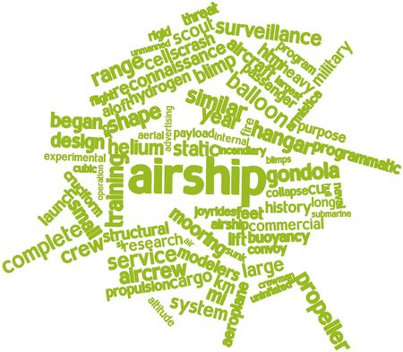 payload: Abstract word cloud for Airship with related tags and terms Stock Photo